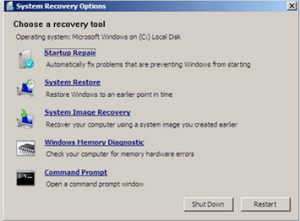 recuperacion de sistema windows