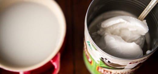 crema de coco y leche de coco